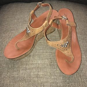 EUC Lucky Brand Cork Wedges Size 9.5.